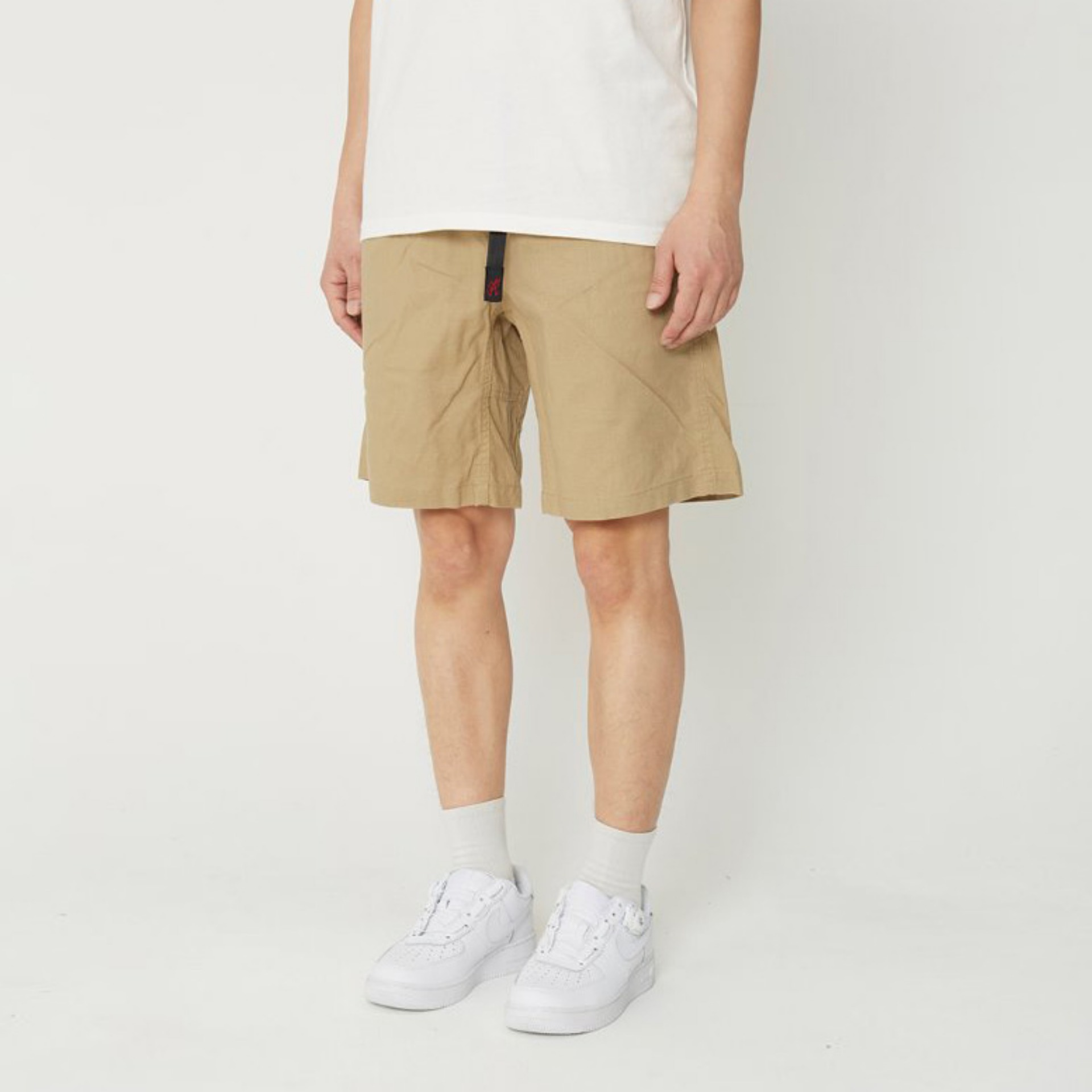 LINEN COTTON G-SHORTS (KHAKI)